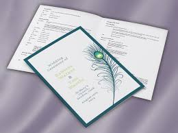 peacock feather ceremony mass booklet wedding print Wedding Booklet peacock feather ceremony mass booklet wedding booklet templates