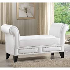 White Bedroom Bench With Arms — Inspiration Home Designs : Bedroom ...