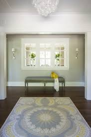 yellow and gray foyer