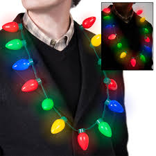 Light Up Christmas Necklaces Hallmark Christmas Light Necklace Christmas Light Up