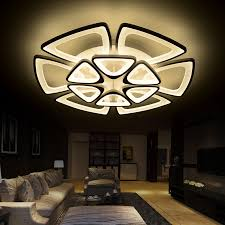 acrylic modern led ceiling chandelier lights for living room bedroom lamparas de techo acrylic ceiling chandelier