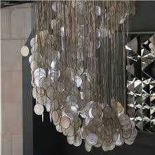capiz shell chandelier rectangular