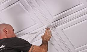 How To Install Decorative Ceiling Tiles ProLITE Decorative Ceiling Strips Ceiling Installation 4