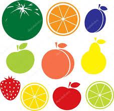 meyve Icon - elma, şeftali, limon, portakal, çilek, armut, karpuz ...