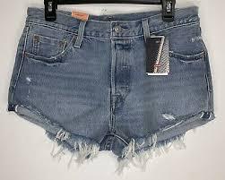 Levis Denim Shorts Womens Vintage High Waisted Hotpants