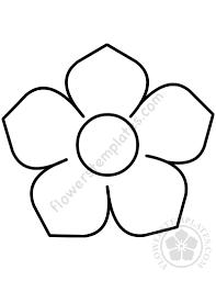 Flower Pdf Printable Template Flowers Templates