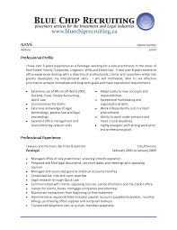 Personal Injury Paralegal Resume Sample Sample Resume Legal Assistant Experience Professional Paralegal 6