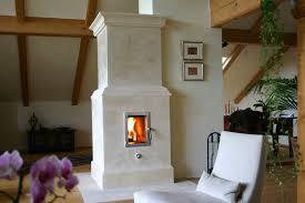 Säulenofen Mit Sichtbarem Feuerraum Ofen Säulenofen