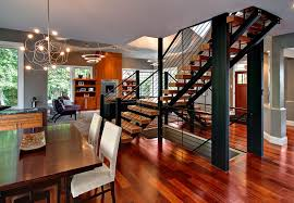 open staircase dining room contemporary with modern light fixture pendant lights lighting for l81 contemporary