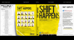 award winning book cover for best selling business le shift happens an eye catching