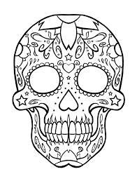 Small Picture Free Printable Day of The Dead Coloring Pages Skull Pinterest