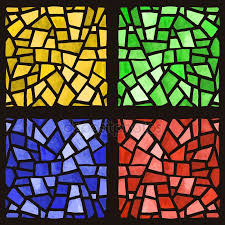 stained glass window vector stock vector