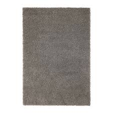 details about ikea rug high pile gray hampen new 5 3 x 7 7