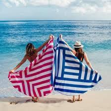 beach towel on beach. Simple Towel Round Microfiber Beach Towel By Dock U0026 Bay  Cross Pattern Throughout On U