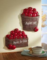 apple kitchen decor. set of 2 bushel apples kitchen wal. apple decor