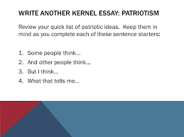veterans of foreign wars and northwood th grade patriot s pen  write another kernel essay patriotism review your quick list of patriotic ideas