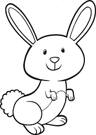 Small Picture Easter Bunny Coloring Page Throughout Of A Rabbit glumme