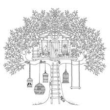 Tree House Coloring Pages Coloringstar