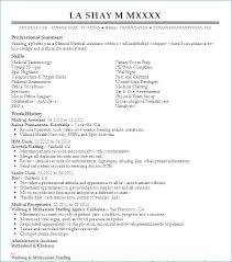 Medical Assistant Resume Example Inspiration Resume Objectives For Medical Field Medical Field Resume This Is