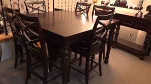 Kitchen Counter Height Tables Ashley Porter Counter Height Extension Dining Set Review Youtube