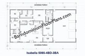 barndominium house plans ft wide 4 bedroom 3 bath floor plan barndominium house floor plans