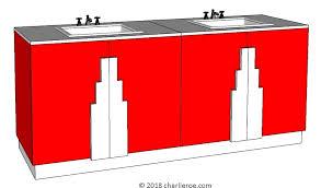 art deco bathrooms vanity units wall