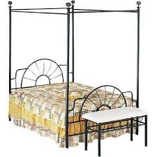 Full Size Black Metallic Canopy Bed With Starburst Style Headboard and Footboard 192551174092 | eBay