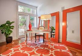 orange office furniture. View In Gallery Orange Mirror Frames Bring Drama To The Home Office [From: Payton+Binnings] Furniture A