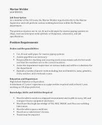 Welder Resume Free Resume Short Description Best Resume Templates