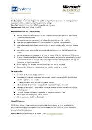 Title: Telemarketing Executive Job Description: To .