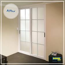 for all of our internal glass sliding doors you can choose clear or frosted glass in either a solid wood or composite frame with a stain or paint finish