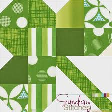 Piece N Quilt: How to: Clover Quilt Block Tutorial - Sunday Stitches & Sew the top and bottom rows together. Adamdwight.com