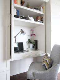 office in a closet. Study Room - Small Transitional Built-in Desk Dark Wood Floor And Brown Office In A Closet