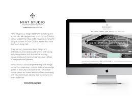 Mint Web Design Web Design Mint Studio On Behance