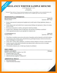 Freelance Writer Resume Objective Freelance Writer Resume Template Medicinabg 57