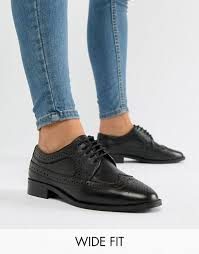 design wide fit mai tai leather brogues in 2019 wear it leather brogues asos minimalist shoes
