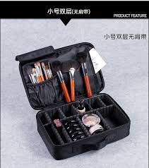 pro makeup bag organizer cosmetics partment storage travel bag waterproof
