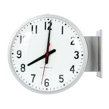 two sided wall clock double school clocks ping