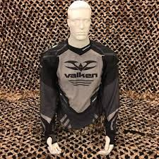 Details About New Valken Agility V17 Paintball Jersey Black Grey Xl