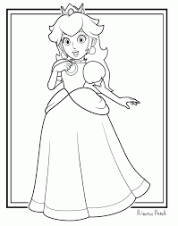 Free princess peach coloring pages for kids. Mario Bros Peach Coloring Pages Coloring Home