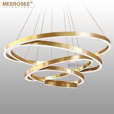 modern hanging lighting. rings led pendant lights gold hanging lamp modern lighting acrylic circle lampadario lustres