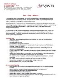 mary jane daniher   cv   project managementcv screenshot