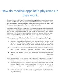 Doctor Applications Mobile Apps Development For Doctors And Healthcare Professionals