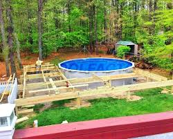 how to build a deck around a above ground pool building a deck around your pool
