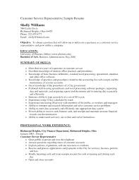 Sample Resume Objective Statements For Customer Service Customer Service Resume Objectives Blaisewashere Com