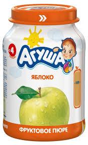 Купить <b>Пюре фруктовое</b> «<b>Агуша</b>» яблоко с 4 мес, 200 г по цене ...