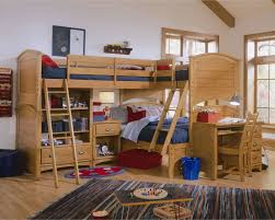 Image of: triple bunk beds storage
