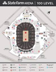 State Farm Center Seating Chart With Seat Numbers Arena Info State Farm Arena