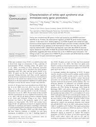Characterization of white spot syndrome virus immediate-early gene ...