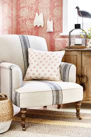 Lounge Chairs For Living Room Prairie Chic Ticking Stripe Chair Living Room Pinterest
